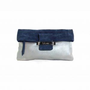 cartera de mano azul iris
