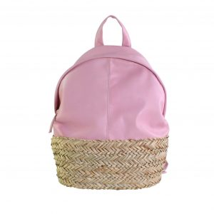 Bolso grande mochila de mujer rosa palo blover
